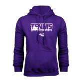 Purple Fleece Hoodie-Tennis Player Design