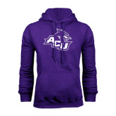 Purple Fleece Hoodie-Angled ACU w/Wildcat Head