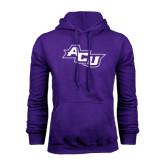 Purple Fleece Hoodie-Angled ACU