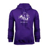 Purple Fleece Hoodie-Alumni