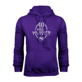 Purple Fleece Hoodie-Tall Football Design