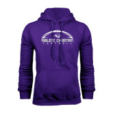 Purple Fleece Hoodie-Wide Football Design