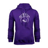Purple Fleece Hoodie-Design On Basketball