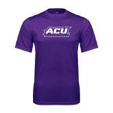 ACU Wildcat Syntrel Performance Purple Tee-Basketball