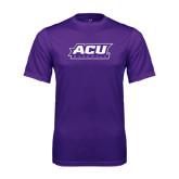 ACU Wildcat Syntrel Performance Purple Tee-Baseball