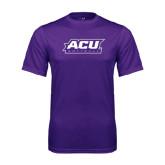 ACU Wildcat Syntrel Performance Purple Tee-Softball