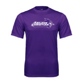 ACU Wildcat Syntrel Performance Purple Tee-Primary Logo