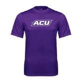 ACU Wildcat Syntrel Performance Purple Tee-ACU
