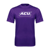 Performance Purple Tee-ACU Wildcats