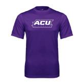 ACU Wildcat Syntrel Performance Purple Tee-ACU Wildcats