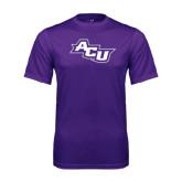 ACU Wildcat Syntrel Performance Purple Tee-Angled ACU