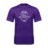 Performance Purple Tee-Tall Football Design