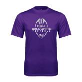 Syntrel Performance Purple Tee-Tall Football Design