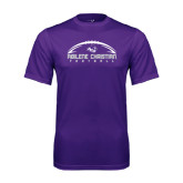 Performance Purple Tee-Wide Football Design