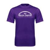 Syntrel Performance Purple Tee-Wide Football Design