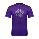 Performance Purple Tee-Design On Basketball