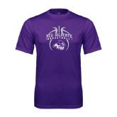 ACU Wildcat Syntrel Performance Purple Tee-Design On Basketball