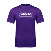 ACU Wildcat Syntrel Performance Purple Tee-Football