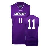 Replica Purple Adult Basketball Jersey-#11