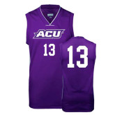 ACU Wildcat Replica Purple Adult Basketball Jersey-#13