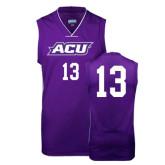 Replica Purple Adult Basketball Jersey-#13