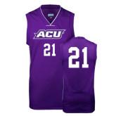 Replica Purple Adult Basketball Jersey-#21