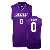 ACU Wildcat Replica Purple Adult Basketball Jersey-Personalized