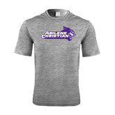ACU Wildcat Performance Grey Heather Contender Tee-Primary Logo