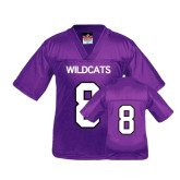 Youth Replica Purple Football Jersey-#8