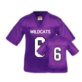 Youth Replica Purple Football Jersey-#6
