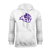 White Fleece Hoodie-Angled ACU w/Wildcat Head