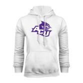 White Fleece Hoodie-Angled ACU w/Wildcat Head