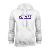 White Fleece Hoodie-ACU Wildcats