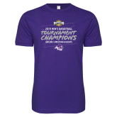 Next Level SoftStyle Purple T Shirt-2019 Southern Conference Mens Basketball Champions