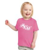 ACU Wildcat Toddler Fuchsia T Shirt-Angled ACU