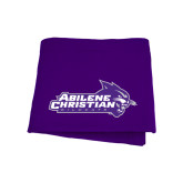 Purple Sweatshirt Blanket-Primary Logo
