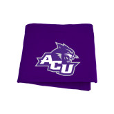Purple Sweatshirt Blanket-Angled ACU w/Wildcat Head