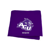 ACU Wildcat Purple Sweatshirt Blanket-Mom