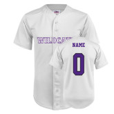 ACU Wildcat Replica White Adult Baseball Jersey-Personalized