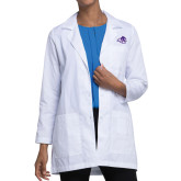 Abilene Christian Ladies White Lab Coat-Angled ACU w/Wildcat Head
