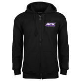 ACU Wildcat Black Fleece Full Zip Hoodie-ACU Wildcats
