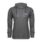 ACU Wildcat Adidas Climawarm Charcoal Team Issue Hoodie-Angled ACU w/Wildcat Head
