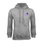 Grey Fleece Hoodie-Angled ACU w/Wildcat Head