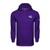 Under Armour Purple Performance Sweats Team Hoodie-Angled ACU w/Wildcat Head