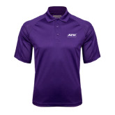 Purple Textured Saddle Shoulder Polo-ACU Wildcats