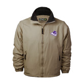 ACU Wildcat Khaki Survivor Jacket-Angled ACU w/Wildcat Head