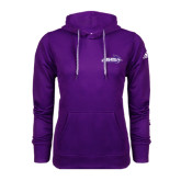 ACU Wildcat Adidas Climawarm Purple Team Issue Hoodie-Primary Logo