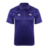 ACU Wildcat Adidas Climalite Purple Jaquard Select Polo-Angled ACU w/Wildcat Head