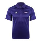 ACU Wildcat Adidas Climalite Purple Jaquard Select Polo-ACU Wildcats