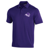ACU Wildcat Under Armour Purple Performance Polo-Angled ACU w/Wildcat Head